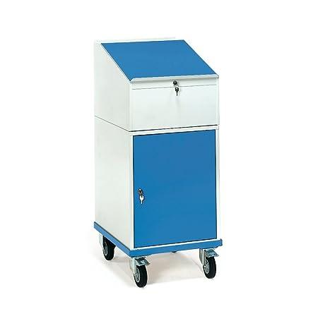 Fetra roll con separadores de 150 kg, con armario y escritorio-accesorio