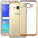 Sun Tigers [combo offers] Goldan Crom Soft Transperent Cover Silicone Back Cover For Samsung J2(2016)+ Tempered Glass Screen Protector ]