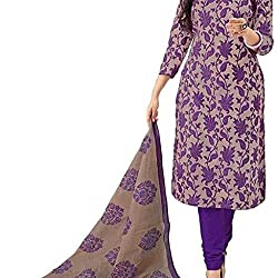 Shree Hari Creation Women's Poly Cotton Unstitched Dress Material (3836_Multi-Coloured_Free Size)