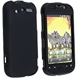 Black Rubber Touch Phone Protector Hard Cover Case for htc Mytouch 4G hd Emerald