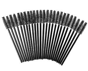25 Mini Brosses Applicatrices à Mascara Jetables à Cils couleur Noire par VAGA®