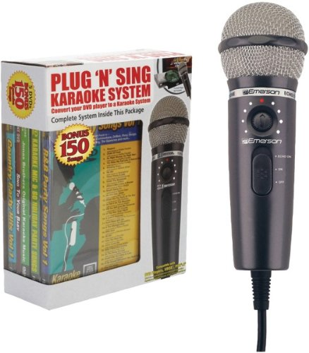 Plug 'N' Play Karaoke Microphone System With 150-Song Dvd