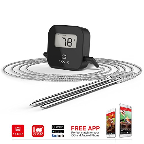 Cappec's Bluetooth Wireless BBQ Thermometer - Smoker Friendly (Bluetooth Bbq compare prices)
