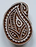 Paisley Shaped Indian Hand Carved Wooden Printing Block Stamp