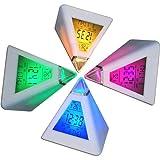 DIGIFLEX Digitaler Wecker in Pyramidenform mit 7 farbwechselnden LEDs