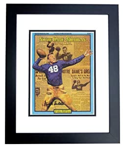 Angelo Bertelli Autographed Hand Signed Notre Dame Fighting Irish 8x10 Photo - BLACK... by Real+Deal+Memorabilia