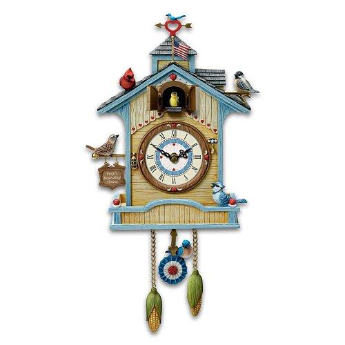 Peep's Place Birdhouse Cuckoo Clock by The Bradford Exchange