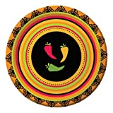 Creative Converting 8 Count Round Lunch Plates, Fiesta Grande by Creative Converting