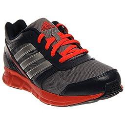 adidas Performance Hyperfast Running Shoe (Little Kid/Big Kid), Grey/Metallic Silver/Infrared, 13 M US Little Kid