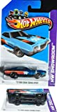 Hot Wheels Super Treasure Hunt - '72 Ford Gran Torino Sport (Spectraflame Blue w/Orange, Red Stripes), Rubber Tires - HW Showroom - 242/250 [Scale 1:64]