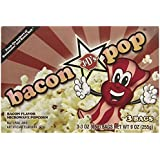 J&D's Bacon Pop Popcorn, 3 Microwavable Bags, (Pack of 6)