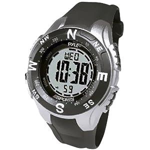 Pyle Sports Track Montre Avec Digitale Compass, Chonomètre, Pacer, Countdown Timer