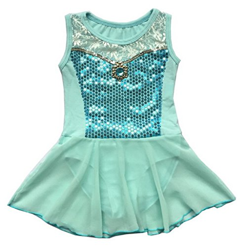 BHL Girls Leotard Dancing 3-12 Years Cosplay (6-8, Blue)