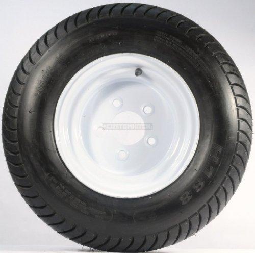 Cheap New Trailer Tire + Rim 20.5 X 8 X 10 205/65-10 20.5/8-10 20.5/800-10 5 Lug White