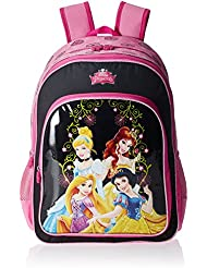 Simba 18 Inches Pink And Black Children's Backpack (BTS-2067)