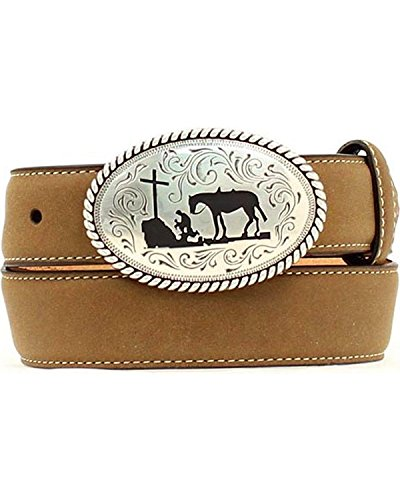 Nocona Boys' Cowboy Prayer Belt Brown 28