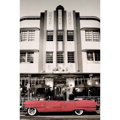 Pink Cadillac-Miami, Photography Poster Print, 24 by 36-Inch at Amazon.com