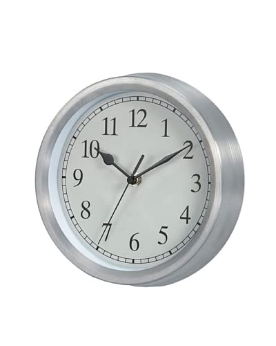 George Nelson Basic Clock, Silver