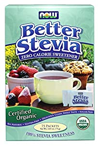 Now Foods Organic Stevia Packets, 75 Count