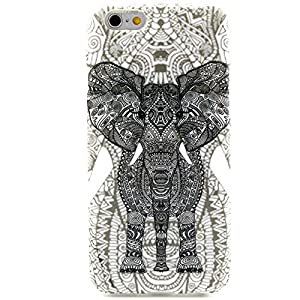 """iPhone 6 Case, JCmax Cute Fashion Slim Thin Protective Glossy Silicone TPU Gel Skin Back Shell Case Cover for Apple iPhone 6 4.7"""" 2014 + Screen Protector and Stylus Pen - [Elephant Pattern]"""