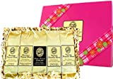 Great Coffee Gift for Mothers Day and Birthdays! Kona Hawaiian Coffee Blends in a bright Pink Sampler! Ground Coffee, Brews 60 Cups