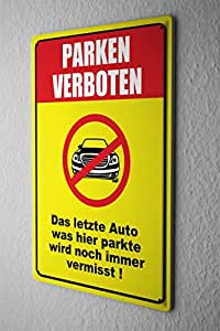blechschild warnschild parken verboten auto in durchgestrichenen roten kreis comic. Black Bedroom Furniture Sets. Home Design Ideas