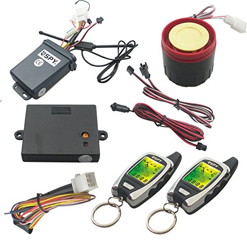 Spy Universal 2 Way Lcd Motorcycle Alarm System With Remote Engine Start Starter And Microwave Sensor front-856026
