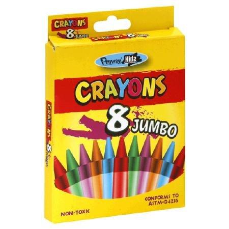 Penway Jumbo Crayons Eight Pack - 1