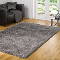 California Sunshine Grey Mix Shag Rug Rug Size: 170cm x 120cm (5 ft 7 in x 3 ft 11 in) by Flair Rugs