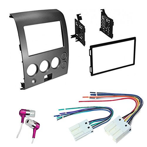 car-cd-stereo-receiver-dash-install-mounting-kit-wire-harness-nissan-titan-armada-2004-2007
