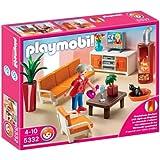 Playmobil - 5332 - Jeu de construction - Salon avec cheminée