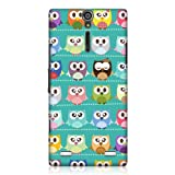 Head Case Designs Kawaii Green Owl Patterned Protective Case for Sony Xperia S LT26i