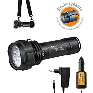 Preisfehler? Wiederaufladbare Alu Taschenlampe LiteXpress WORKX mit 7 Power LEDs (700 Lumen) nur 39,98€ (Preisvergleich 120,68)