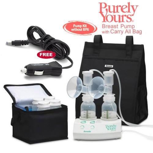 Ameda 17077KIT7 Purely Yours Breast Pump Combo 7 with Carry All Bag and a Free Ameda Vehicle Lighter Adapter