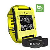 Bryton Amis S430H Smartest GPS Running Watch + Heart Rate Monitor (Yellow)