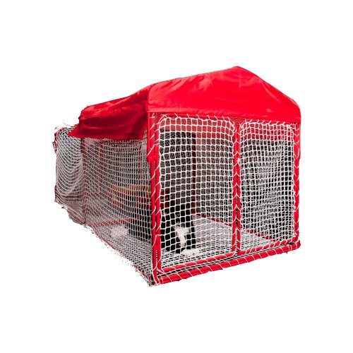 Kritter Kondo 1B Deluxe Outdoor Pet Enclosure, Red/White, 2-Feet by 2-1/2-Feet by 6-Feet