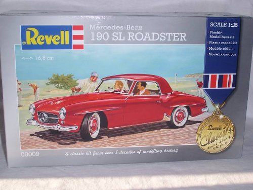 MERCEDES-BENZ 190SL 190 SL ROT 1/25 BAUSATZ KIT