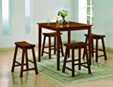 5-piece Kyoto Counter Height Table By Crown Mark Furniture