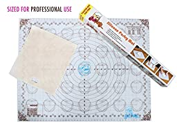 New Large Deli Professional Silicone Baking Mat with Measurements, Non-stick Pastry Mat to Countertop for Rolling Dough- Toaster Bag- Cookie Sheet, Premium Baking Tool Supplies
