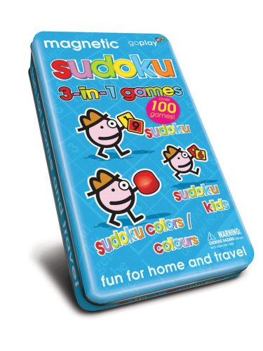 Cheap Fun Magnetic Sudoku 3-in-1 games in tin – Over 95 puzzles (B000P1ALCG)