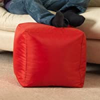 BAR B CUBE Beanbag Stool RED - Outdoor & Indoor Use - Waterproof Bean Bags by Bean Bag Bazaar