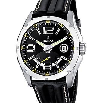 82ff3620aedae *Info boutique Festina - F16481/5 - Montre Homme - Quartz - Analogique -  Bracelet Cuir Noir.