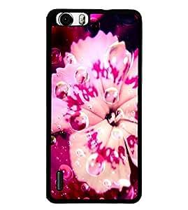 Fuson 2D Printed Flower Designer back case cover for Huawei Honor 6 - D4484