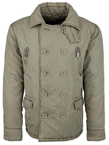 Black Premium by EMP Button Jacket Giacca verde oliva XL