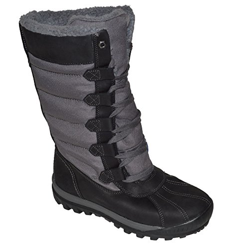 Timberland Womens Mt Holly Tall Waterproof Fleee Lined Winter Boots (7.5, Black) (Customized Timberland Boots compare prices)