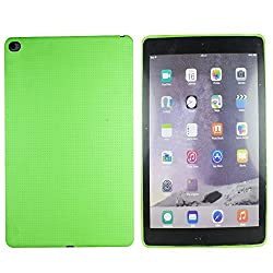 Heartly New Retro Dotted Design Hole Soft TPU Matte Bumper Back Case Cover For Apple iPad 6 Air 2 Tablet - Nature Green