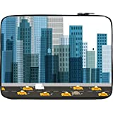 Snoogg Busy City Street 2600 12 To 12.6 Inch Laptop Netbook Notebook Slipcase Sleeve