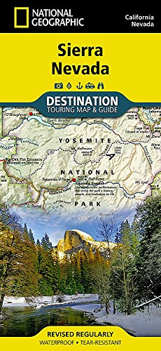 Sierra Nevada, California and Nevada Destination Guide Map (National Geographic Destination Map)
