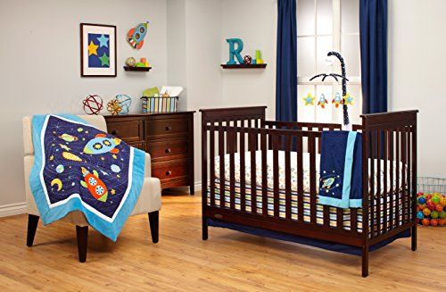 Nojo crib bedding set out of this world 4 count baby shop for World crib bedding
