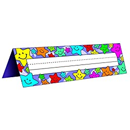 Teacher Created Resources TCR1941BN Tent Name Plates, Happy Stars, 4 Packs/CT